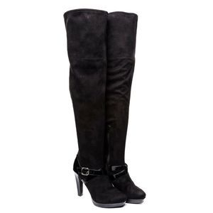 JLO Women's Black Lucille Over The Knee Boots 8.5